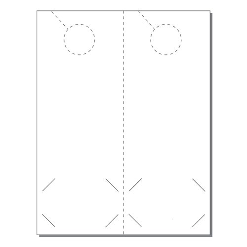 Zapco Print Your Own 2-up Laser Perforated Door Hangers with BC Slits (ZAPDH208L) Image 1