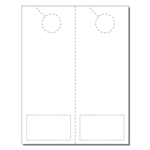 Zapco Print Your Own 2-up Laser Perforated Door Hangers with Business Cards -250pk (ZAPDH226L) Image 1