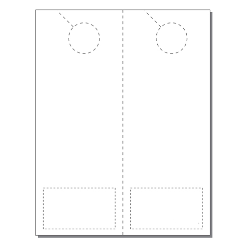 Zapco Print Your Own 2-up Laser Perforated Door Hangers with Business Cards -250pk (ZAPDH226L), Zapco brand Image 1