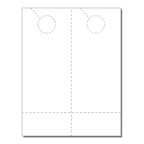 Zapco Print Your Own 2-up Laser Perforated Door Hangers with Coupon - 250pk (ZAPDH211L) Image 1