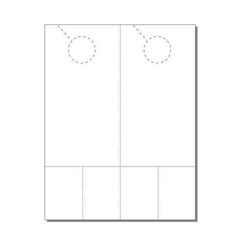 Zapco Print Your Own 2-up Laser Perforated Door Hangers with Double Coupons - 250pk (ZAPDH241L), Zapco brand Image 1
