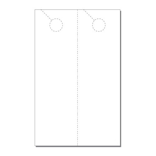 Zapco Print Your Own 2-up Laser Perforated Extra Long Door Hangers - 250pk (ZAPDH233L) Image 1