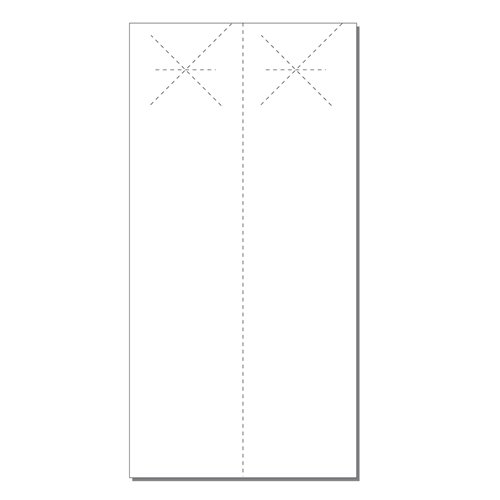 Zapco Print Your Own 2-up Laser Perforated Extra Long Starburst Door Hangers - 250pk (ZAPDH231L), Zapco brand Image 1