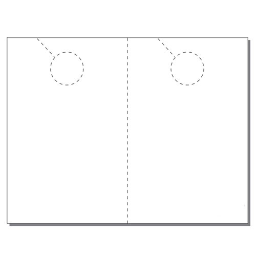 Zapco Print Your Own 2-up Laser Perforated Jumbo Door Hangers - 250pk (ZAPDH210L) Image 1