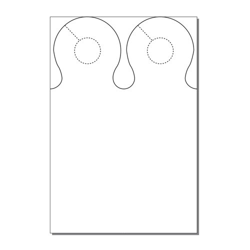 Zapco Print Your Own 2-up Laser Perforated Ring Door Hangers - 250pk (ZAPDH235L) Image 1