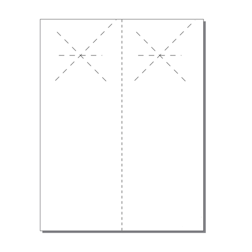 Zapco Print Your Own 2-up Laser Perforated Starburst Door Hangers - 250pk (ZAPDH230L) Image 1