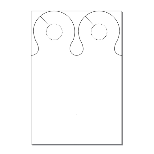 Zapco Print Your Own 2-up Ring Door Hangers - 250pk (ZAPDH235) Image 1