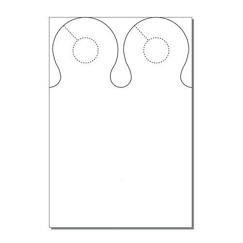 Zapco Print Your Own 2-up Ring Door Hangers - 250pk (ZAPDH235), Zapco brand Image 1