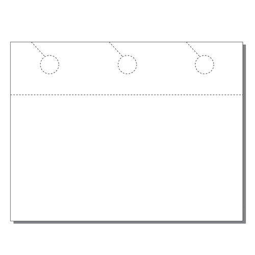 Zapco Print Your Own 3-up Door Hangers with Post Cards - 250pk (ZAPDH228), Zapco brand Image 1