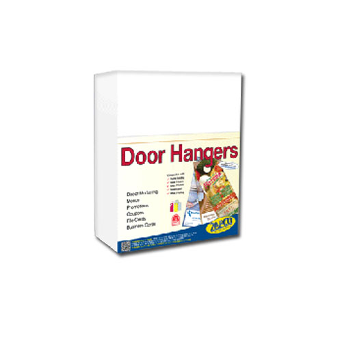 Zapco Print Your Own 3-up Laser Perforated Door Hangers - 250pk (ZAPDH212L), Zapco brand Image 1