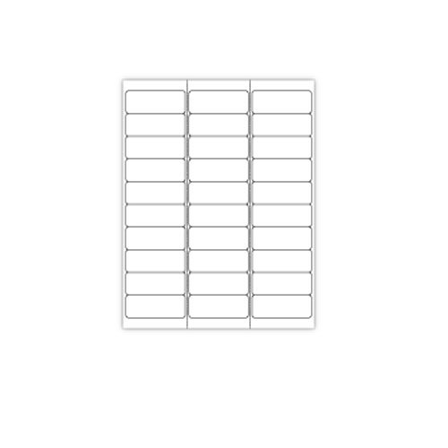 Print Your Own 30-Up Adhesive Labels - 100 Sheets (ZAPALLD30) Image 1