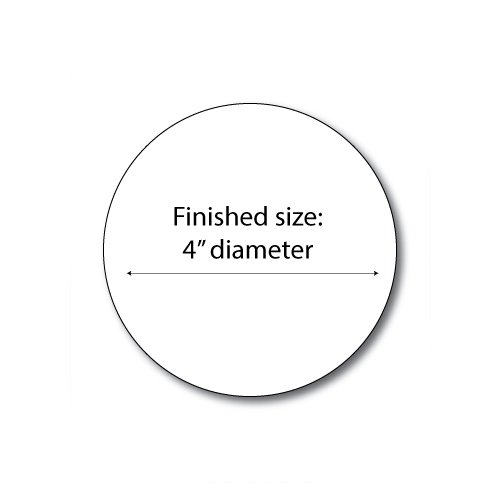 "Zapco Print Your Own 4"" 4-Up Button Blanks - 100 Sheets (ZAPCC680) Image 1"