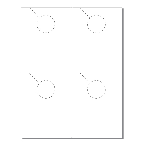 Zapco Print Your Own 4-up Door Hangers - 250pk (ZAPDH202)