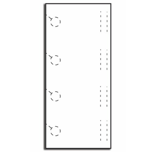 Zapco Print Your Own 4-up Door Hangers with Slits - 250pk (ZAPDH1177) Image 1