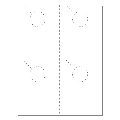 Zapco Print Your Own 4-up Laser Perforated Door Hangers - 250pk (ZAPDH202L)