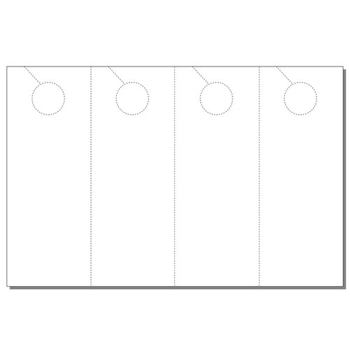 "Zapco Print Your Own 4-up Laser Perforated Door Hangers on 8.5"" x 13"" Paper - 250pk (ZAPDH224L) Image 1"
