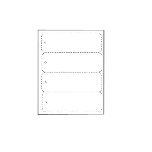 Zapco Print Your Own Large Book Marks - 250 Sheets (ZAPCC1117) Image 1
