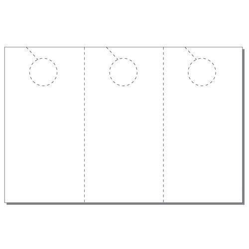 Zapco Print Your Own 3-up Laser Perforated Jumbo Door Hangers - 334pk (ZAPDH222L) - $62.49 Image 1
