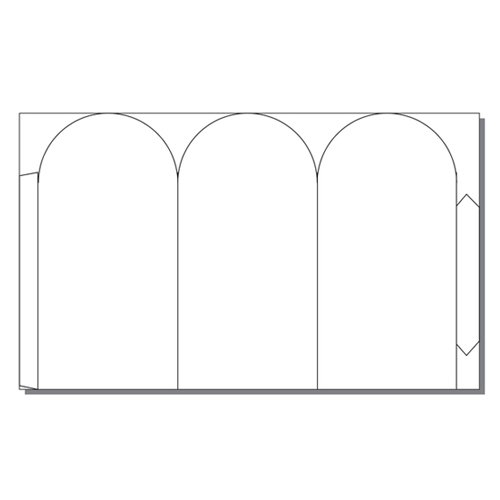 Zapco Print Your Own Short 1-Up Tri-Fold Arc Table Talker - 250 Sheets (ZAPTT303) Image 1