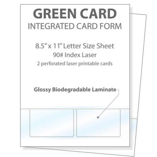 Printable Glossy Identification Cards 2up (ID851190T2L2S)