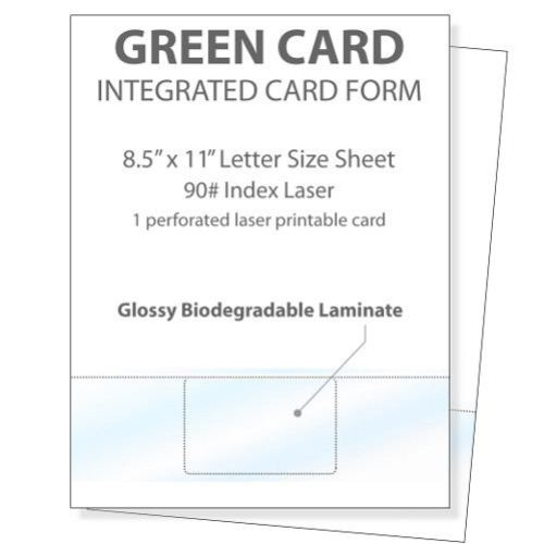 Printable Glossy Identification Cards (Front) (MYPGICF) Image 1