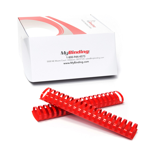 "2"" Red Plastic Binding Combs - 50pk (PC200RD) Image 1"