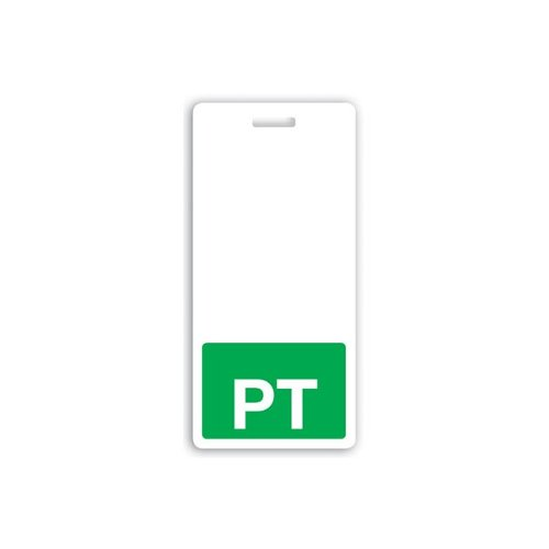 PT Vertical Badge Buddies (Green Bar/White Text) - 25pk (1350-2160), MyBinding brand Image 1