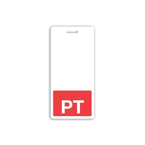 PT Vertical Badge Buddies (Red Bar/White Text) - 25pk (1350-2162), MyBinding brand Image 1