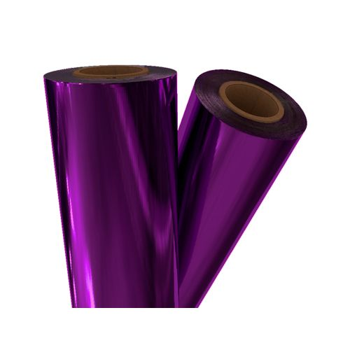 "Purple Metallic 12"" x 500' Toner Fusing/Sleeking Foil - 3"" Core (PRP-90-3-12) Image 1"