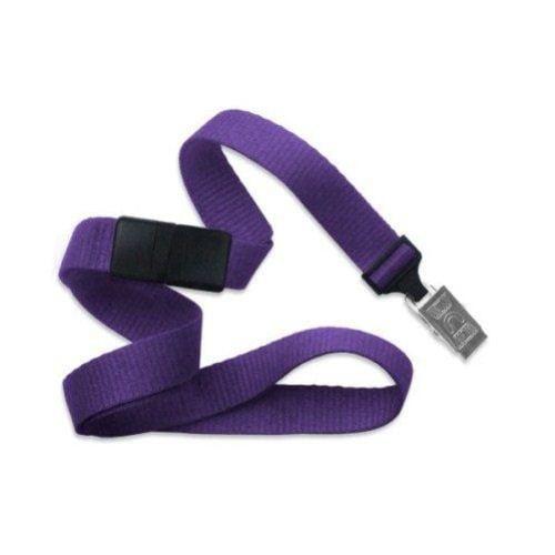 Purple Microweave Break-Away Lanyard with NPS Bulldog Clip - 100pk (MYID21386013) Image 1