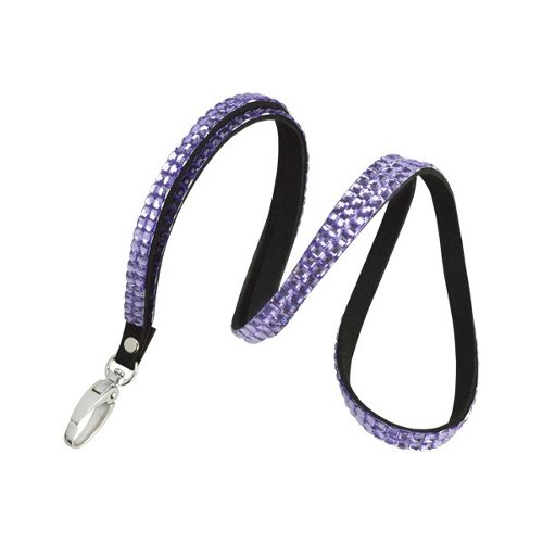 Purple Rhinestone Lanyard With Lobster Claw - 10pk (RHN-PURP), Id Supplies Image 1