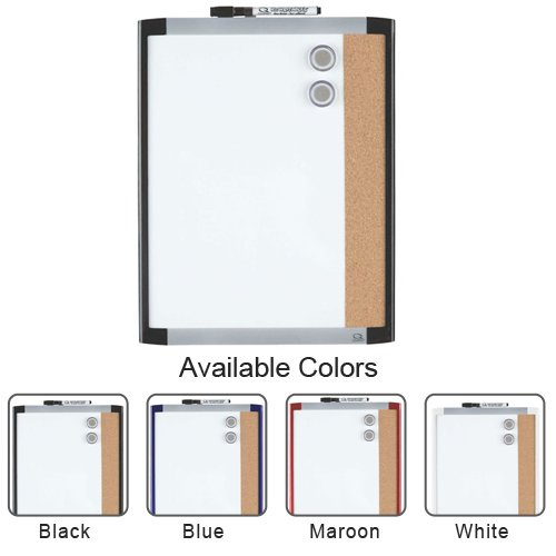 "Quartet 11"" x 14"" Dry-Erase Magnetic Whiteboard / Cork Combination Board with Plastic Frame (QRT79363-11X14) Image 1"