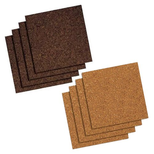 "Quartet 12"" x 12"" Cork Self-Stick Panels (QRT-NCSSP) Image 1"