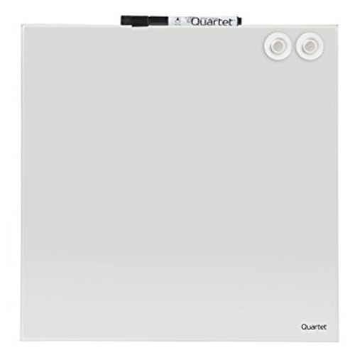 "Quartet 12"" x 12"" White Magnetic Glass Frameless Dry-Erase Board (QRT-1212WGB) Image 1"