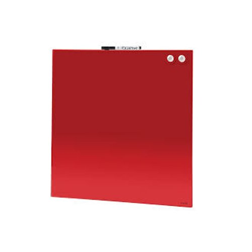 Quartet Red Magnetic Glass Frameless Dry-Erase Boards (QRT-MGFRMLESS-RED) Image 1