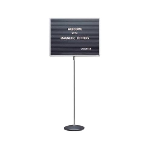 "Quartet 20"" x 16"" Adjustable Single Pedestal Letter Board (QRT-7920M)"