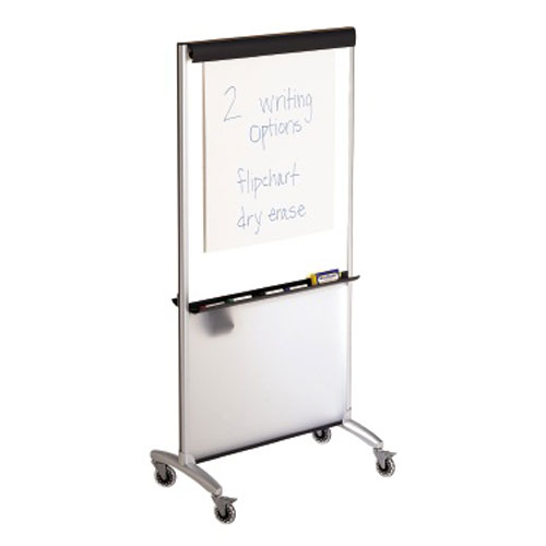 Whiteboard Easel on Wheels Image 1