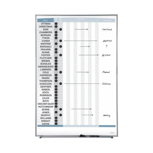 "Quartet 34"" x 23"" 36-Name Matrix In/Out Board (QRT-33705) Image 1"