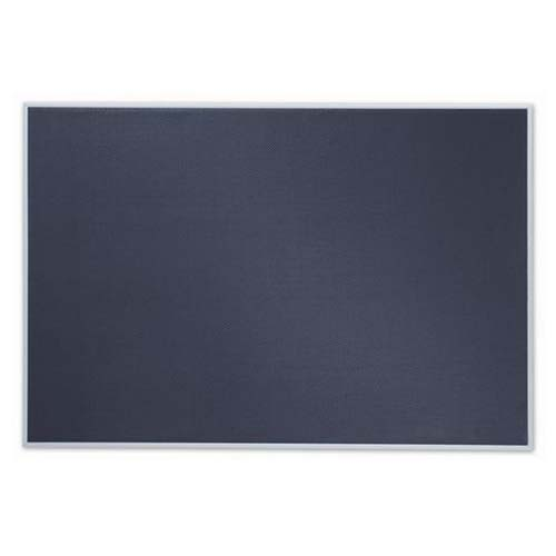 "Quartet Matrix 34"" x 23"" Modular Grey Bulletin Board with Aluminum Frame (QRT-B3423) Image 1"