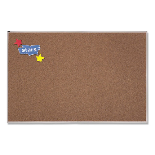 Quartet 4' x 10' Premium Color Cork Bulletin Board (QRT-PCKA410)