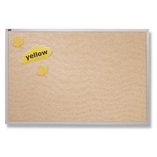 Quartet 4' x 12' Antique White Vinyl Tack Bulletin Board (QRT-VTA412W) Image 1