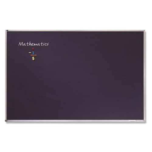 Quartet 4' x 12' Black Porcelain Classroom Chalkboard (QRT-PCA412B) Image 1