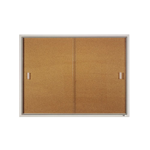 Quartet 4' x 3' Aluminum Frame Sliding Door Enclosed Board (QRT-D2401) Image 1