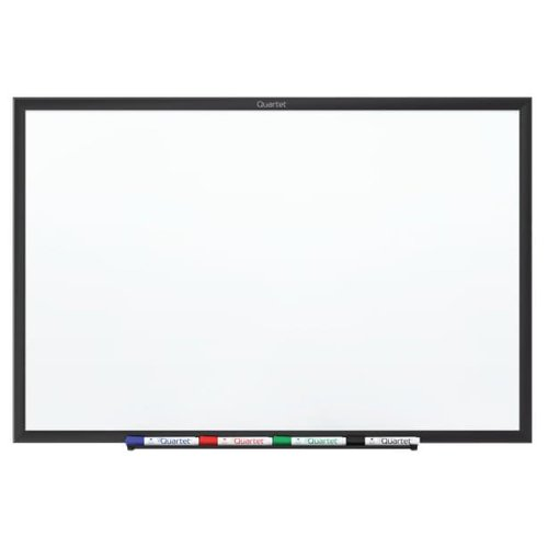 Quartet 4' x 3' Standard Magnetic Whiteboard with Black Frame (QRT-SM534B) - $111.47 Image 1