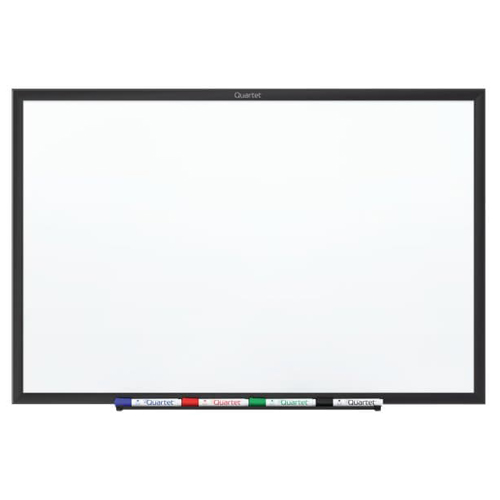Quartet 4' x 3' Standard Magnetic Whiteboard with Black Frame (QRT-SM534B) Image 1