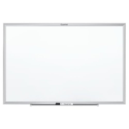 Quartet 4' x 3' Standard Magnetic Whiteboard with Silver Frame (QRT-SM534) Image 1