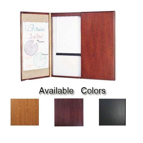 Quartet 4' x 4' Wood Veneer Conference Room Cabinet (QRT-44WVCRC) Image 1