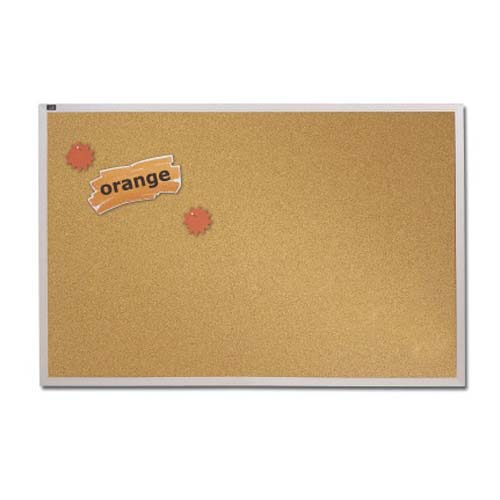 Quartet 4' x 6' Natural Cork Bulletin Board (QRT-ECKA406) Image 1