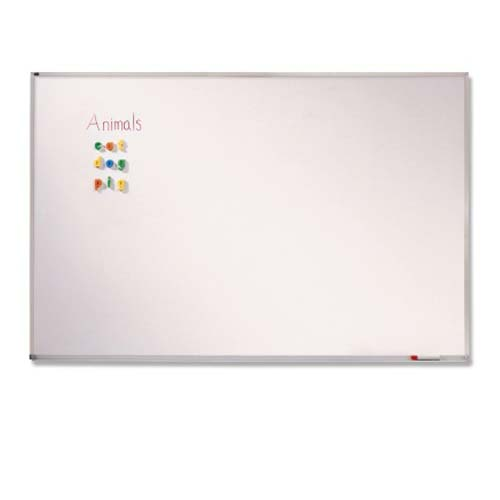 Quartet 4' x 8' Porcelain Magnetic Classroom Whiteboard (QRT-PPA408) Image 1