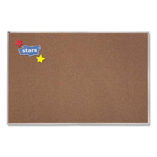 Quartet 4' x 8' Premium Color Cork Bulletin Board (QRT-PCKA408)